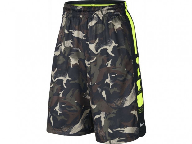 Basketbalové šortky Nike elite stripe camo