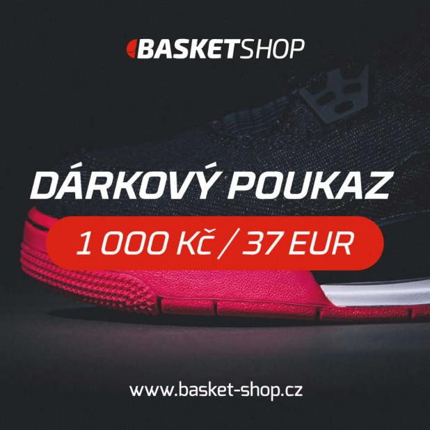 Dárkový poukaz na 1 000 Kč / 37 EUR