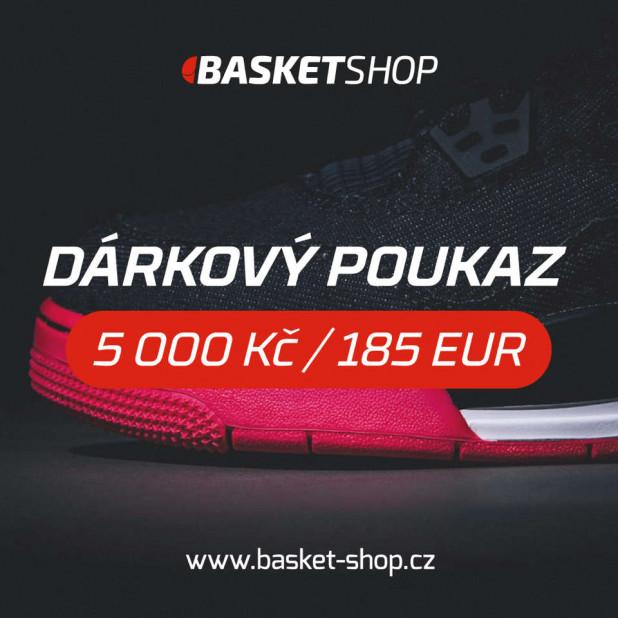 Dárkový poukaz na 5 000 Kč / 185 EUR