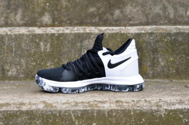 Dětské basketbalové boty Nike Zoom KD 10 Black White